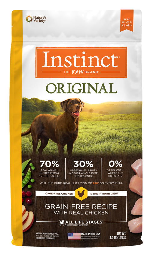 Nature's Variety Instinct Original Chicken Dog Food 4 lb
