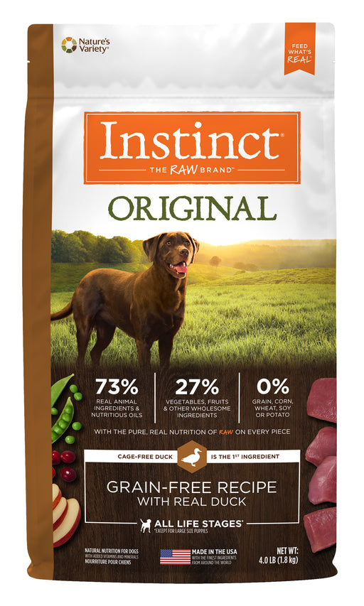 Nature's Variety Instinct Original Duck Dog Food 20 lb