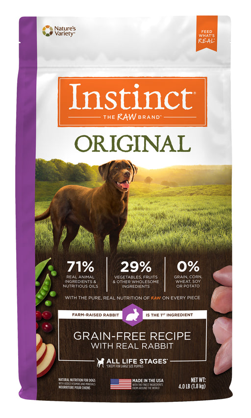 Nature's Variety Instinct Original Rabbit Dog Food 4 lb