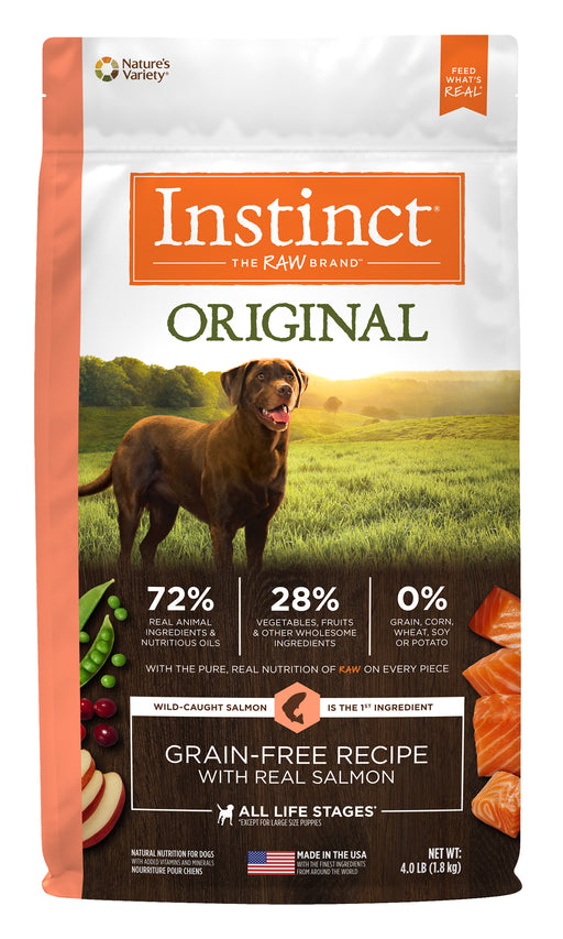 Nature's Variety Instinct Original Salmon Dog Food 4 lb