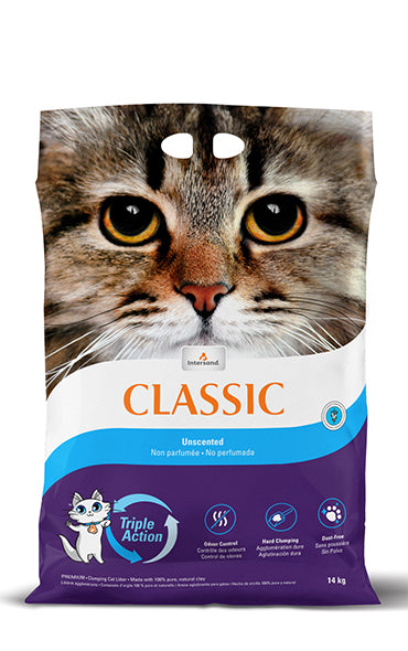 Intersand Classic Unscented Cat Litter 15 lb