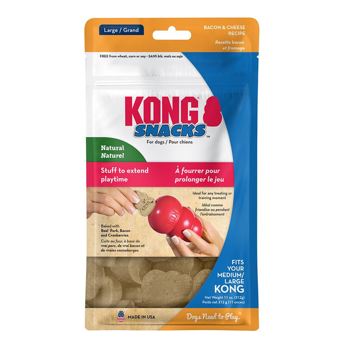 KONG Stuff'N Snacks, Bacon & Cheese, Large
