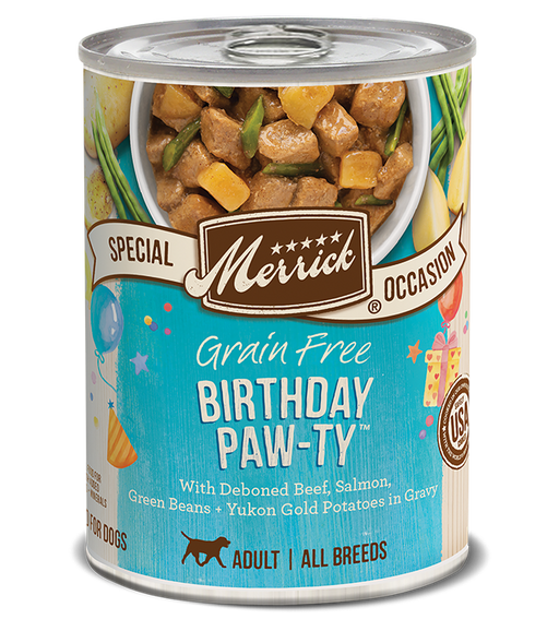 Merrick Grain Free Birthday Paw-ty Recipe 12.7 oz