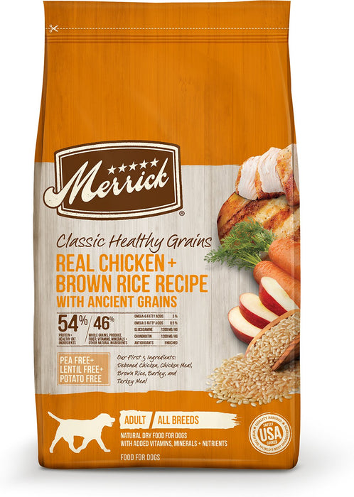 Merrick Classic Healthy Grains Real Chicken & Brown Rice Recipe with Ancient Grains Dry Dog Food