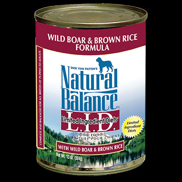 Natural Balance Limited Ingredients Diet: Boar and Rice 13 oz