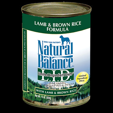 Natural Balance Limited Ingredients Diet: Lamb & Brown Rice 13 oz