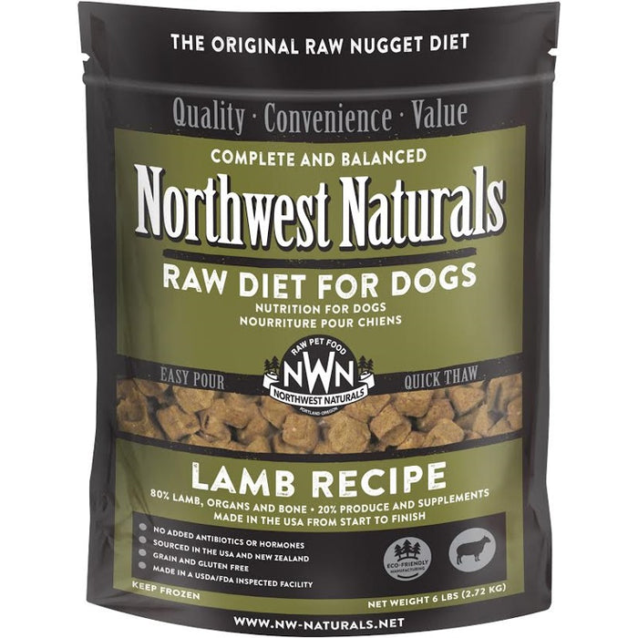 Northwest Naturals Frozen Lamb Nuggets 6 lb