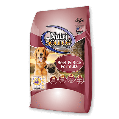 NutriSource Beef & Rice Dog Food 5 lb