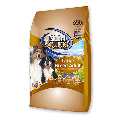 NutriSource Dog Grain Free Large Breed Lamb and Rice 33lb