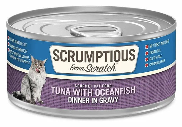 Scrumptious from Scratch Wet Cat Food, Tuna with Oceanfish, 2.8 oz