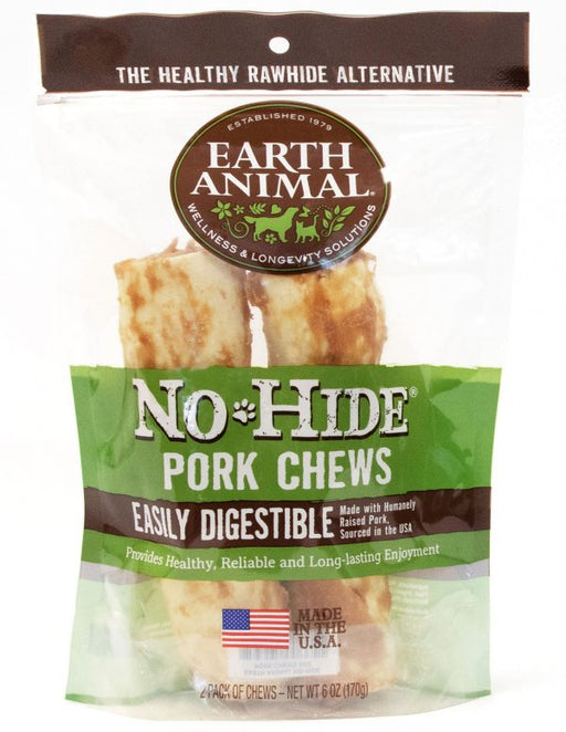 Earth Animal No Hide Pork Chews - 2 pack
