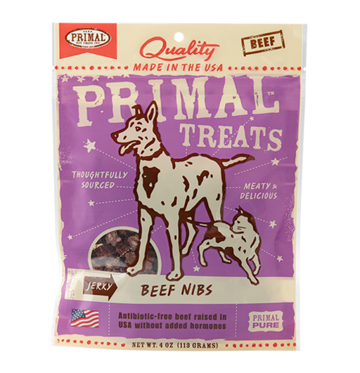 Primal Treat Jerky Beef Nibs 4 oz