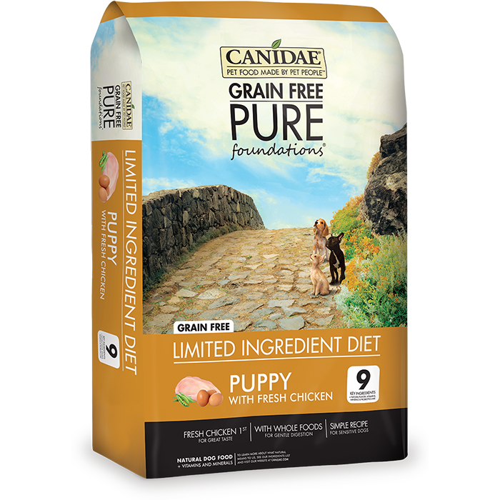 Canidae Grain Free Pure Foundations Chicken Puppy Food, 4 lbs.