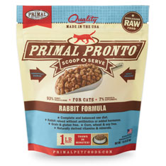 Primal Cat Frozen Pronto Rabbit 1 lbs