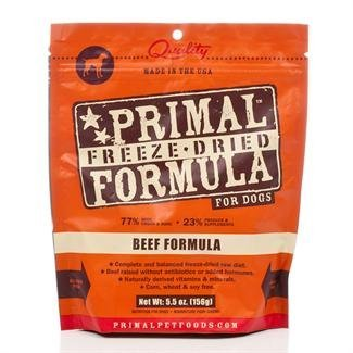 Primal Freeze-Dried Beef Dog Food 5.5 oz Nuggets