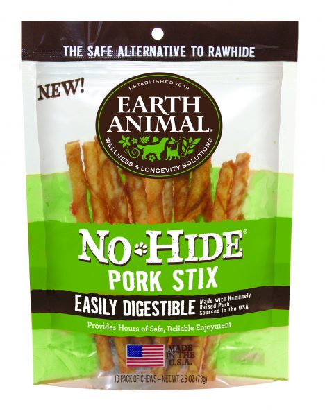 Earth Animal No Hide Pork Chew Stix 10 Pack