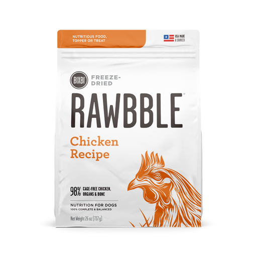Bixbi Rawbble Freeze Dried Chicken Recipe Dog Food