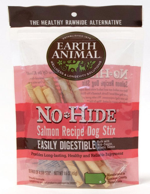 Earth Animal No Hide Salmon Chews Small 10 pack