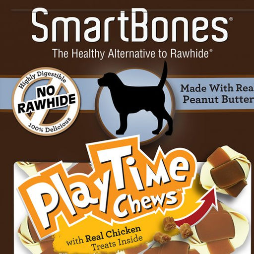 SmartBones Playtime Peanut Butter Chew Small (10pk)