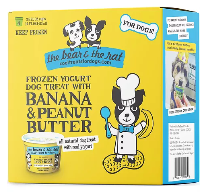 The Bear & The Rat Frozen Yogurt Treats - 4 Pack 3.5 oz Cups