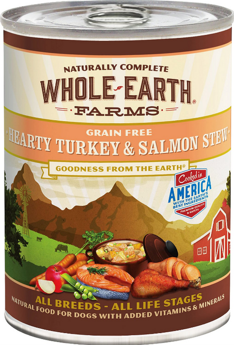 Merrick Whole Earth Farms Grain-Free Hearty Turkey & Salmon Stew Canned Dog Food