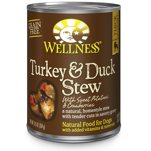 Wellness Turkey and Duck Stew Dog Food 12.5 oz