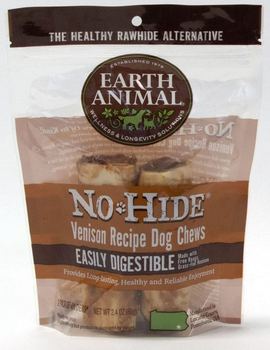 "Earth Animal No-Hide Venison 7"" Chews - 2 pack"