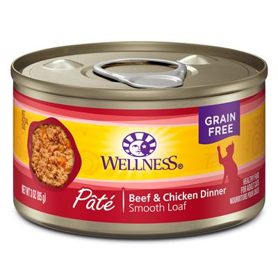 Wellness Beef and Chicken Cat Food 3 oz