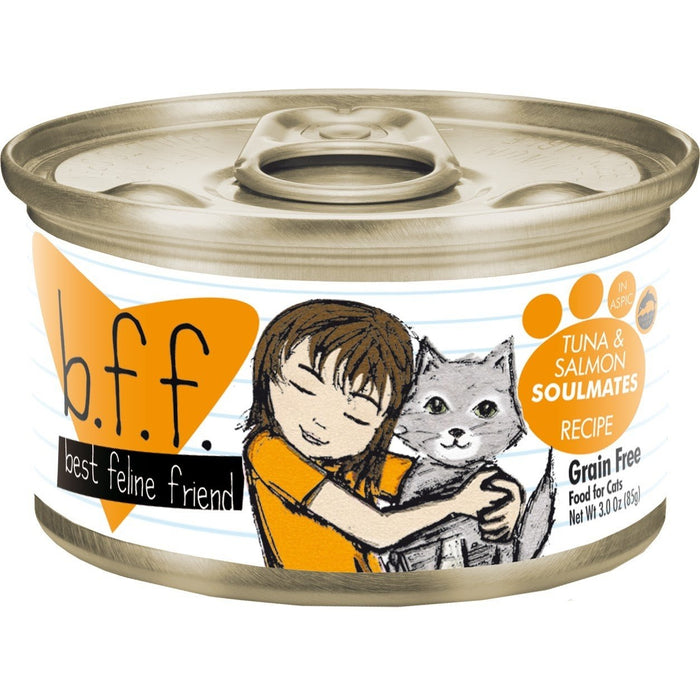 Weruva BFF Grain Free  Cat Food Soulmate Tuna & Salmon 5.5 oz