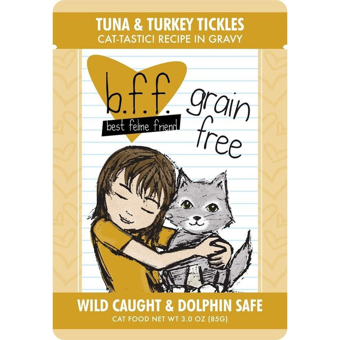 Weruva BFF Grain Free  Cat Food Tickles Tuna & Turkey 3 oz