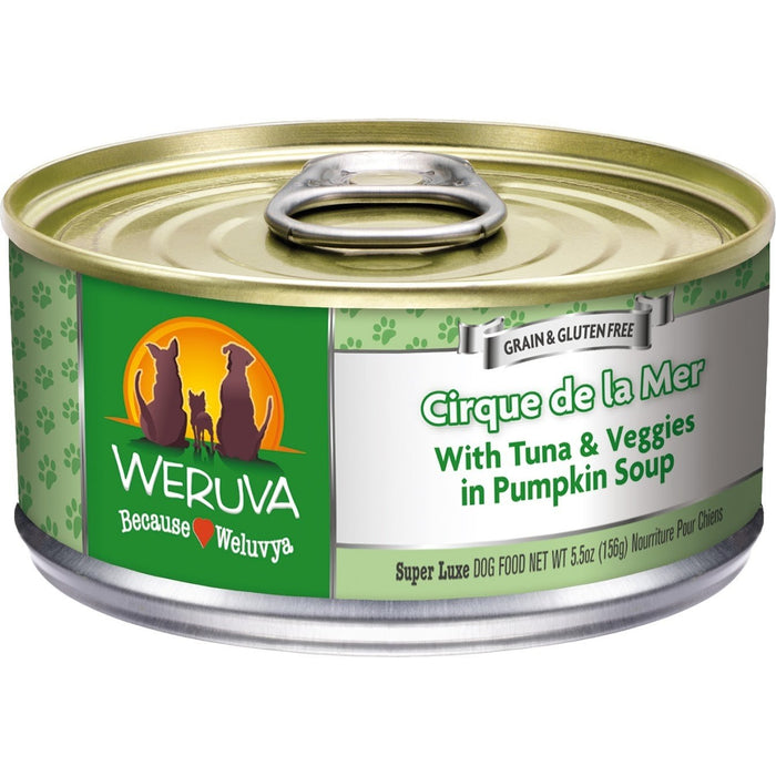 Weruva Cirque De La Mer Dog Food with Tuna & Veggies 5.5 oz