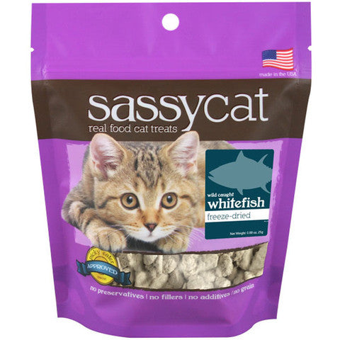 Sassy Cat Treats Freeze Dried Whitefish 1.25 Oz