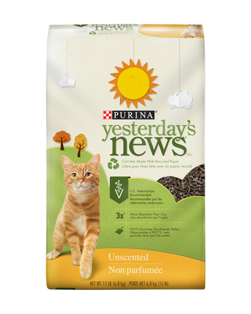 Yesterday's News Unscented Cat Litter 30lb