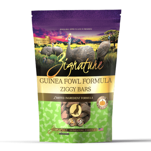 Zignature Ziggy Bars Treat, Guinea Fowl Formula, 12 oz