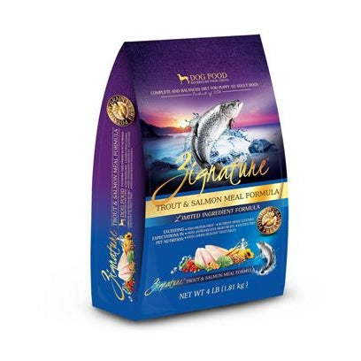 Zignature Limited Ingredient Dog Food: Trout and Salmon 4 lbs
