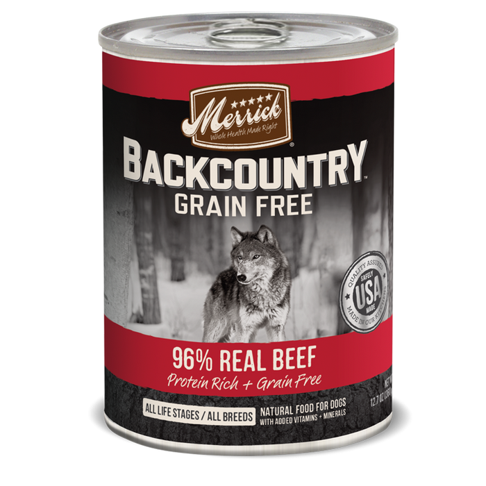 Merrick Backcountry 96% Beef Dog Food