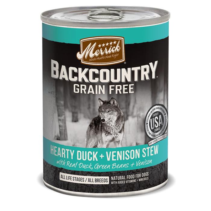 Merrick Backcountry Hearty Duck & Venison Stew 12.7 oz