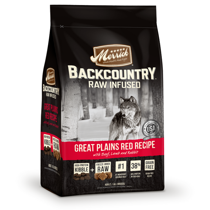 Merrick Backcountry Great Plains Red Recipe Dog Food 12 lbs