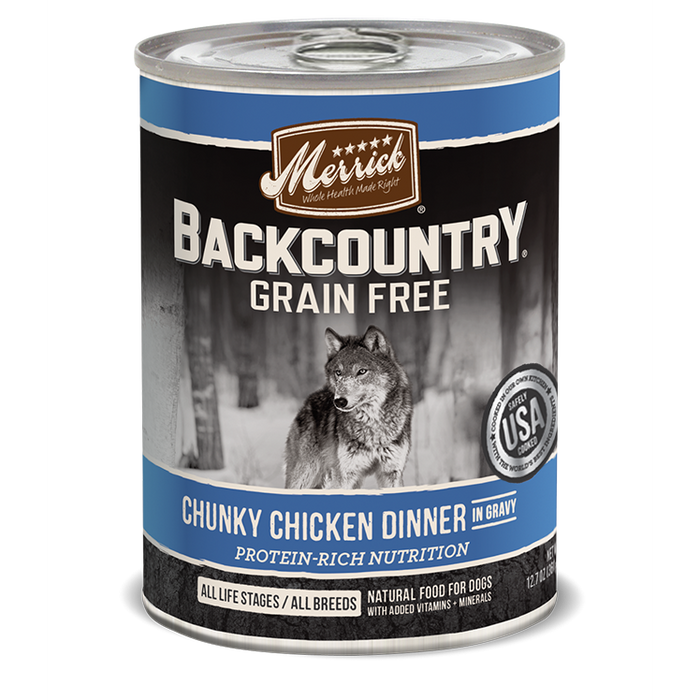 Merrick Backcountry Chunky Chicken Dog Food 12.7 oz