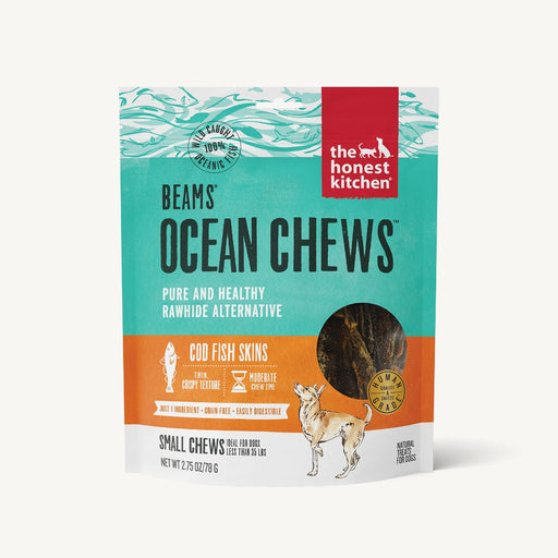 The Honest Kitchen Beams Ocean Chews Cod Fish Skins Dog Treat