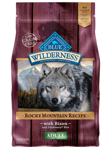 Blue Buffalo Wilderness Rocky Mountain Bison Dog Food 22 lb