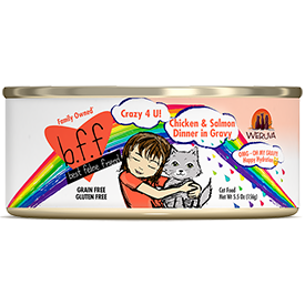 Weruva BFF Crazy 4 U Chicken and Salmon 5.5 oz Can Cat Food