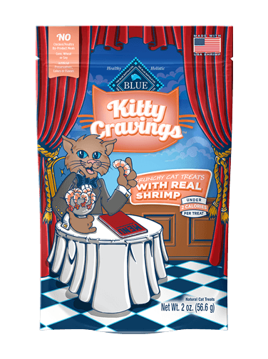 Blue Buffalo Kitty Cravings Shrimp Crunch Cat Treat 2 oz