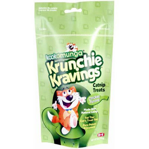 8 in 1 Kookamunga Krunchie Kravings Catnip Treats Chicken 5 oz