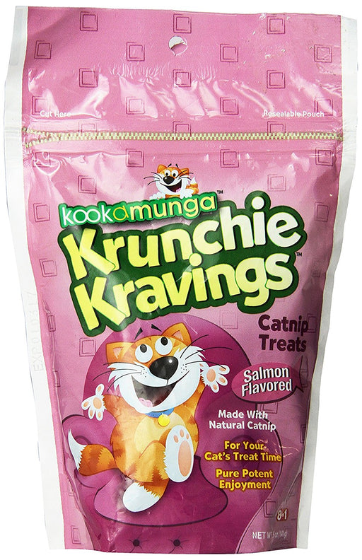8 in 1 Kookamunga Krunchie Kravings Catnip Treats Salmon 5 oz