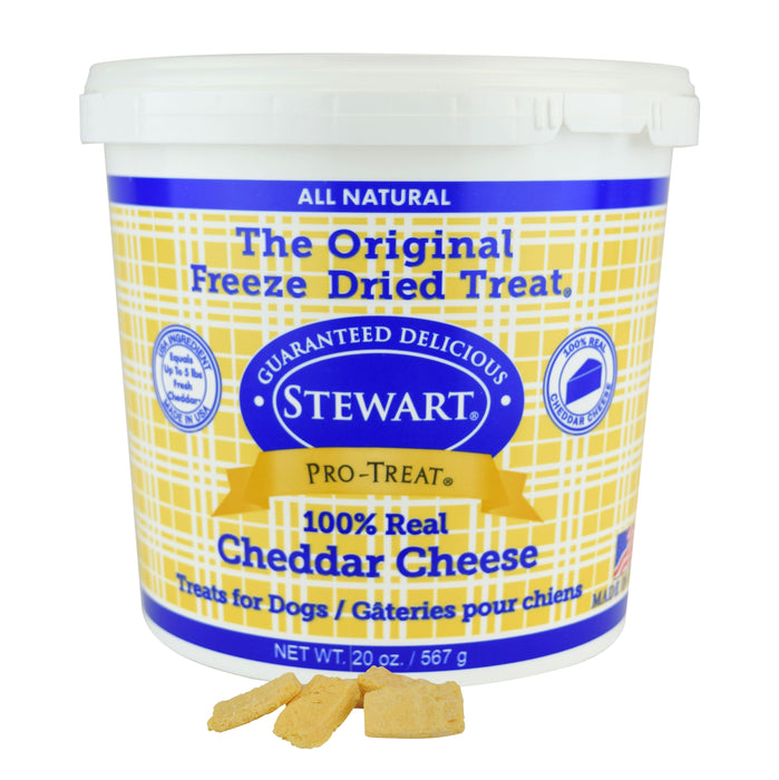 Stewart Pro-Treat Freeze Dried Cheddar Cheese Dog Treats, 20 oz