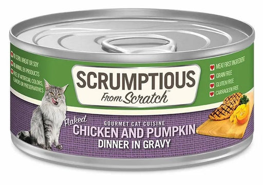 Scrumptious from Scratch Wet Cat Food, Chicken & Pumpkin, 2.8 oz