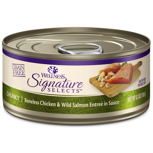 Wellness Signature Selects Chicken and Salmon Cat Food 5.3 oz