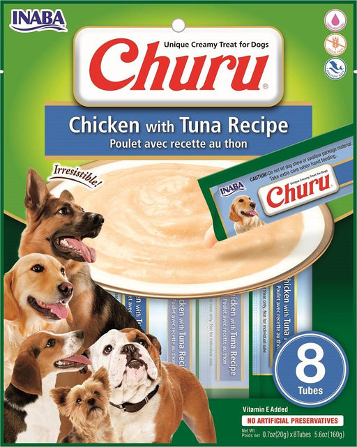 Inaba Churu Creamy Chicken & Tuna Treats, 8 pack