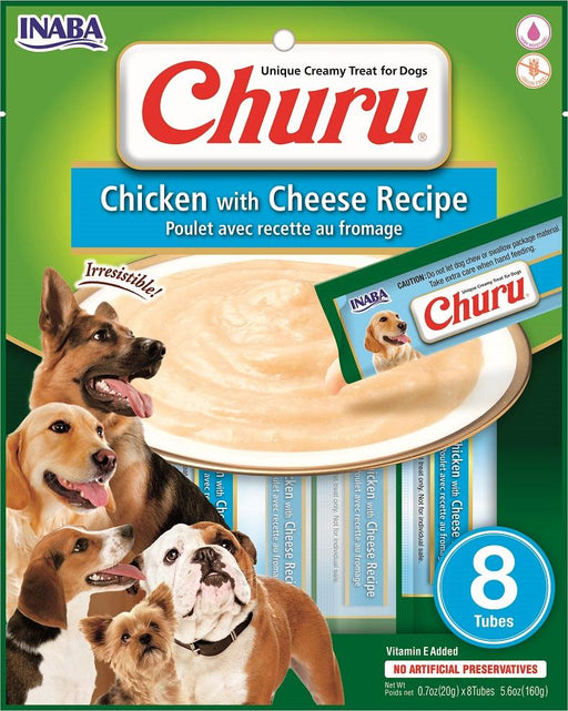 Inaba Churu Creamy Chicken & Cheese Treats, 8 pack